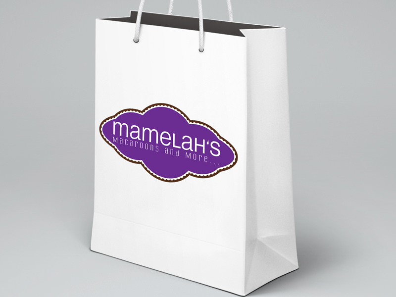 Mamelah's Macaroons and More - logo design