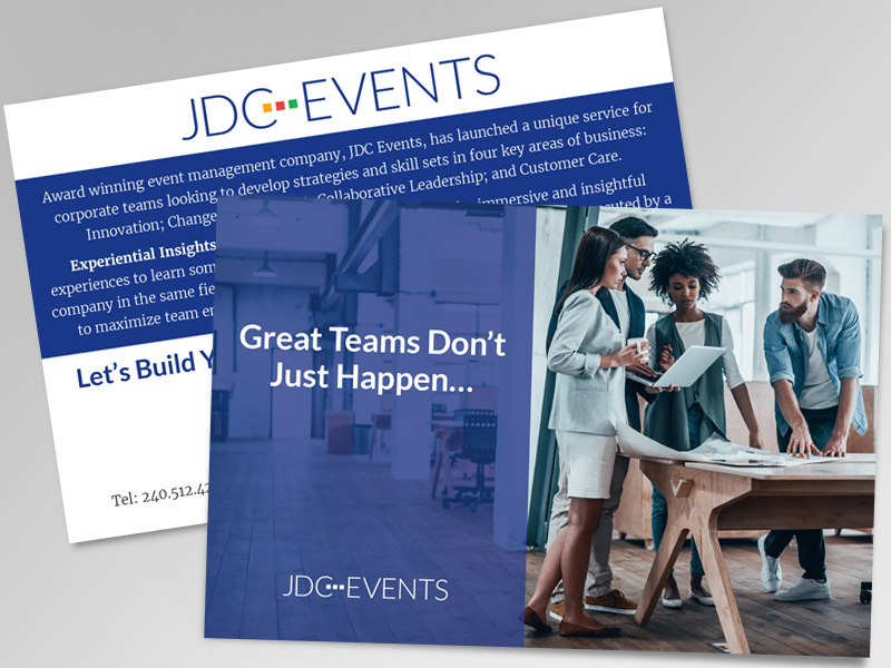 JDC Events postcard